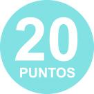 20 puntos